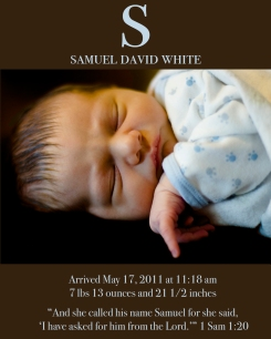 Samuel's Birth Announcement